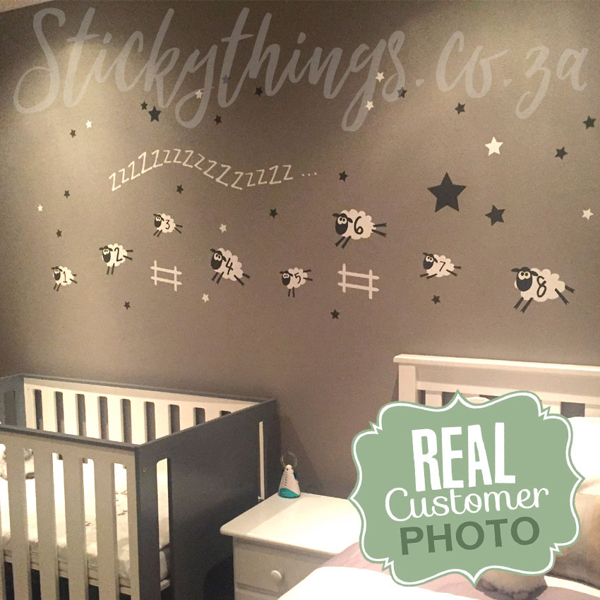 Sheep Baby Room Wall Sticker Sheep Wall Decal