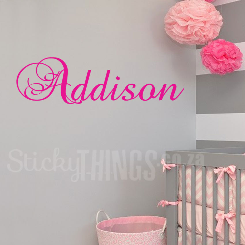 This Personalised Name Wall Decal is your own custom name wall sticker and is 57cm wide.