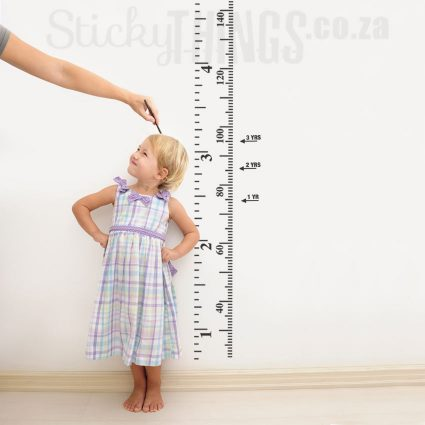 This Growth Chart Wall Art is in inches and cms and stands 1.6m tall