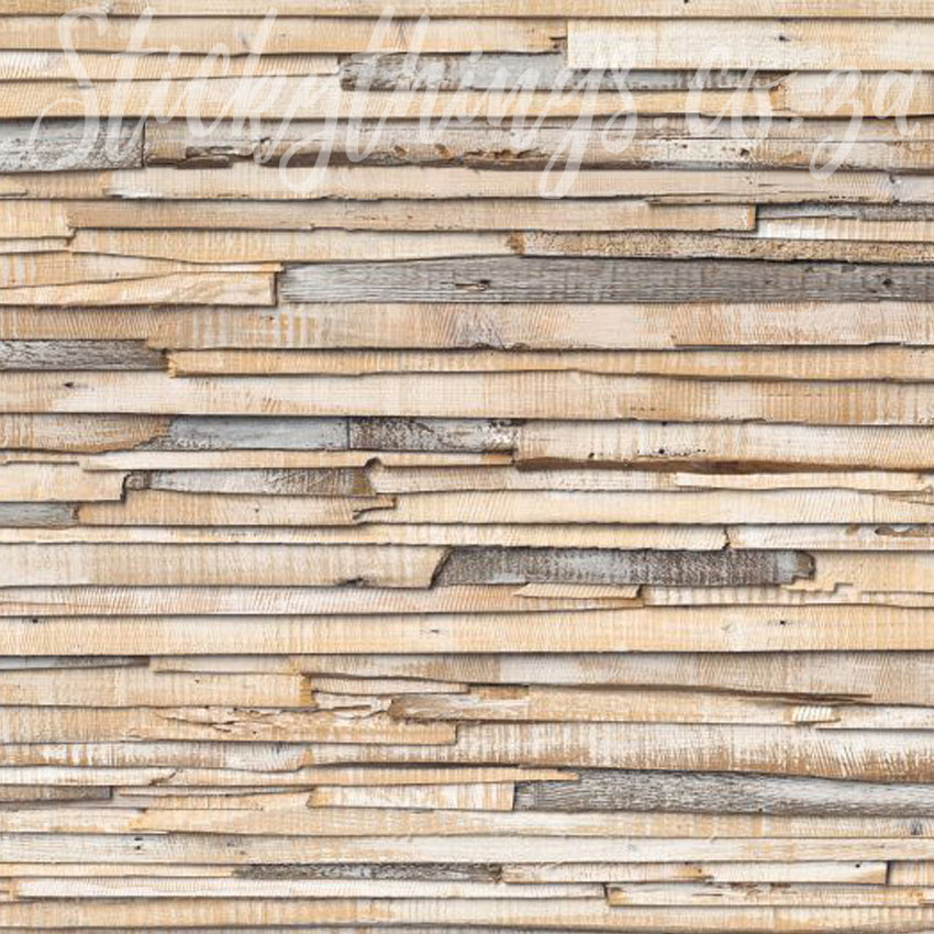 Birch Wood Wallpaper Mural Whitewashed Wood Planks Wall