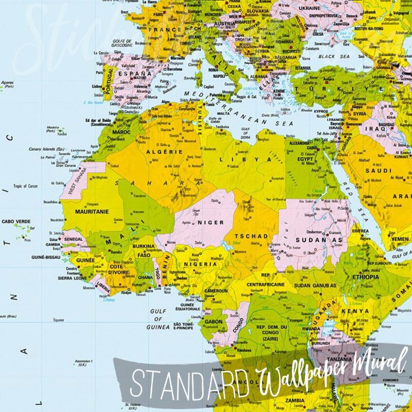 map of the world wall mural world map wallpaper