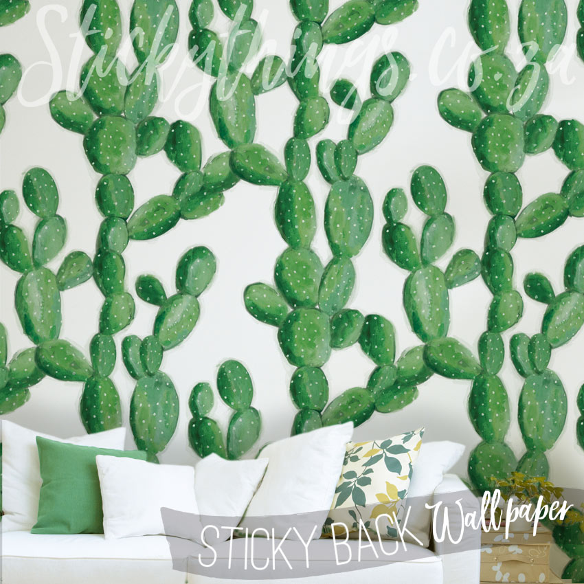 Lounge with the Cactus Mural Wallpaper