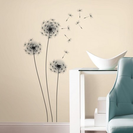 Blowing Dandelion Wall Decal U2013 Roommates Peel And Stick Whimsical Dandelion  Giant Wall Sticker
