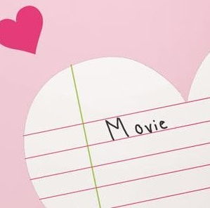 Close up of the Heart Notepad Decal