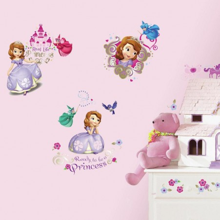 Disney Sofia The First Wall Decals in a bedroom