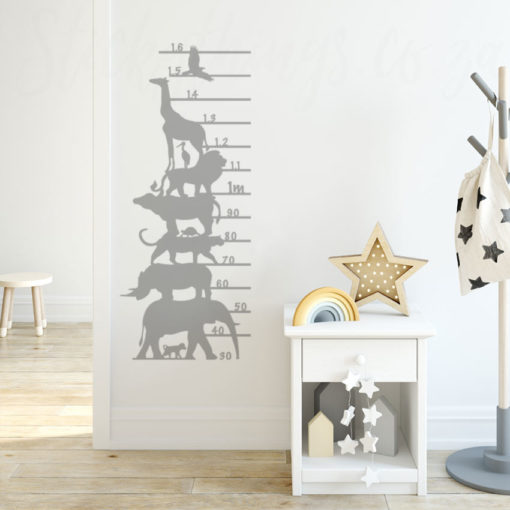 Childrens Growth Chart Sticker in a kids room