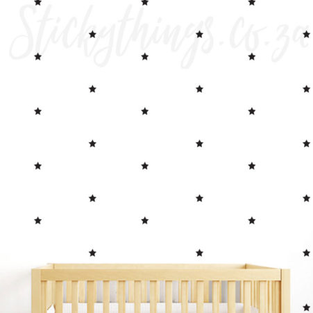 Shooting Star Pattern Wall Sticker in a nursery