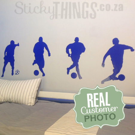 The Soccer Wall Decal is 4 large football wall stickers