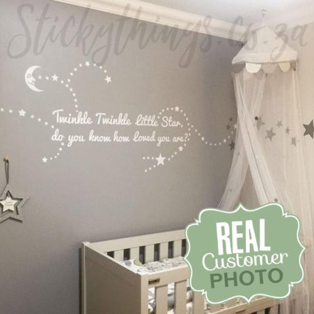 Real Customer Photo of Twinkle Little Star Wall Decal