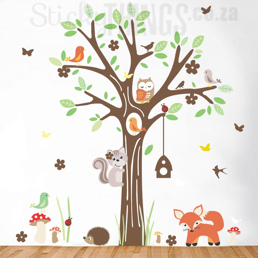woodland forest wall art sticker - stickythings.co.za