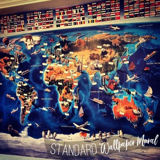 Real Customer Photo of the Kids World Map Wall Art Mural