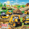 Close up of the Road Construction Mural