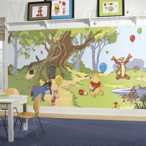 Playroom with our Winnie the Pooh Mural