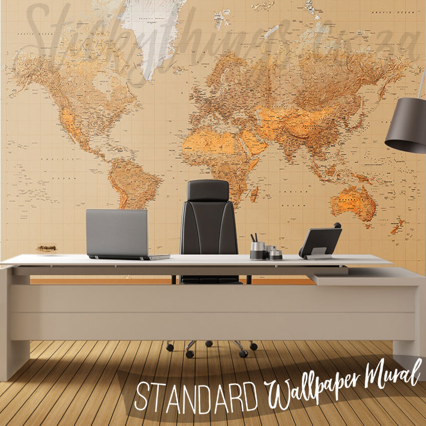 The world wall mural world map art mural stickythings south africa office with the world wall mural gumiabroncs Choice Image