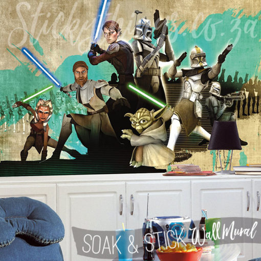 Boys Bedroom with the Clone Wars Star Wars Wallpaper Mural