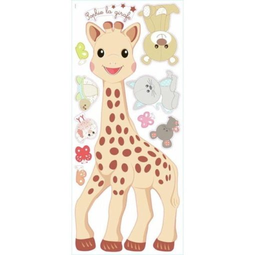Sheet of the Giant Sophie the Giraffe Decal Set