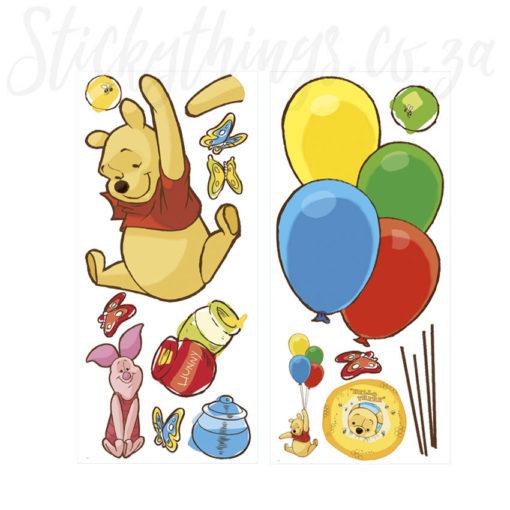 Winnie the Pooh Wall Sticker Sheets