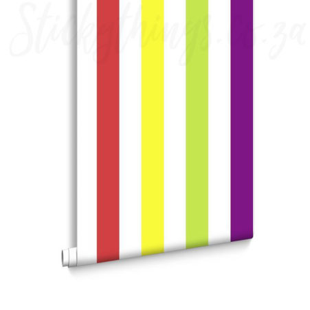 Roll of Bright Stripes Wallpaper