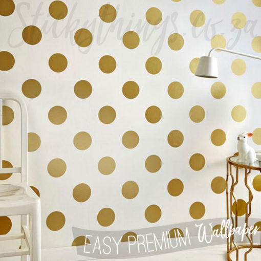 Room with Gold Dot Wall Art