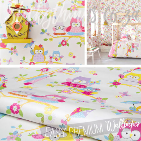 Assortment of images of the Nursery Owls Wallpaper