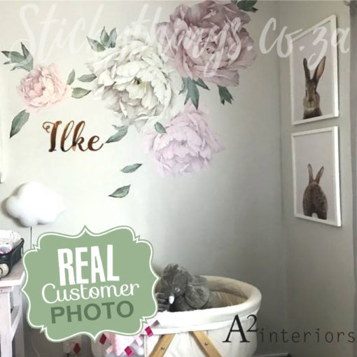 Giant Peonies Sticker in a Nursery in South Africa