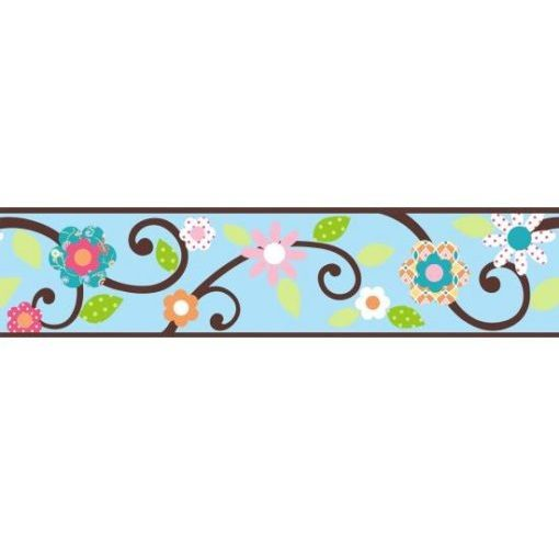 Floral Scroll Border Pattern