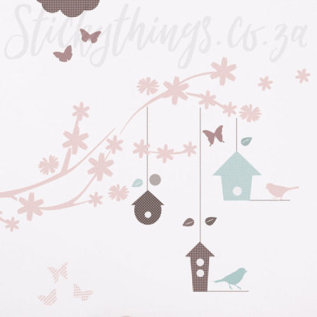Butterfly Bird Branch Wall Sticker