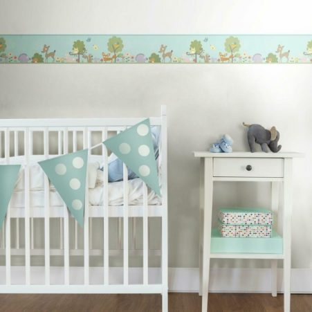 Woodland Animals Nursery Border in a Baby Room