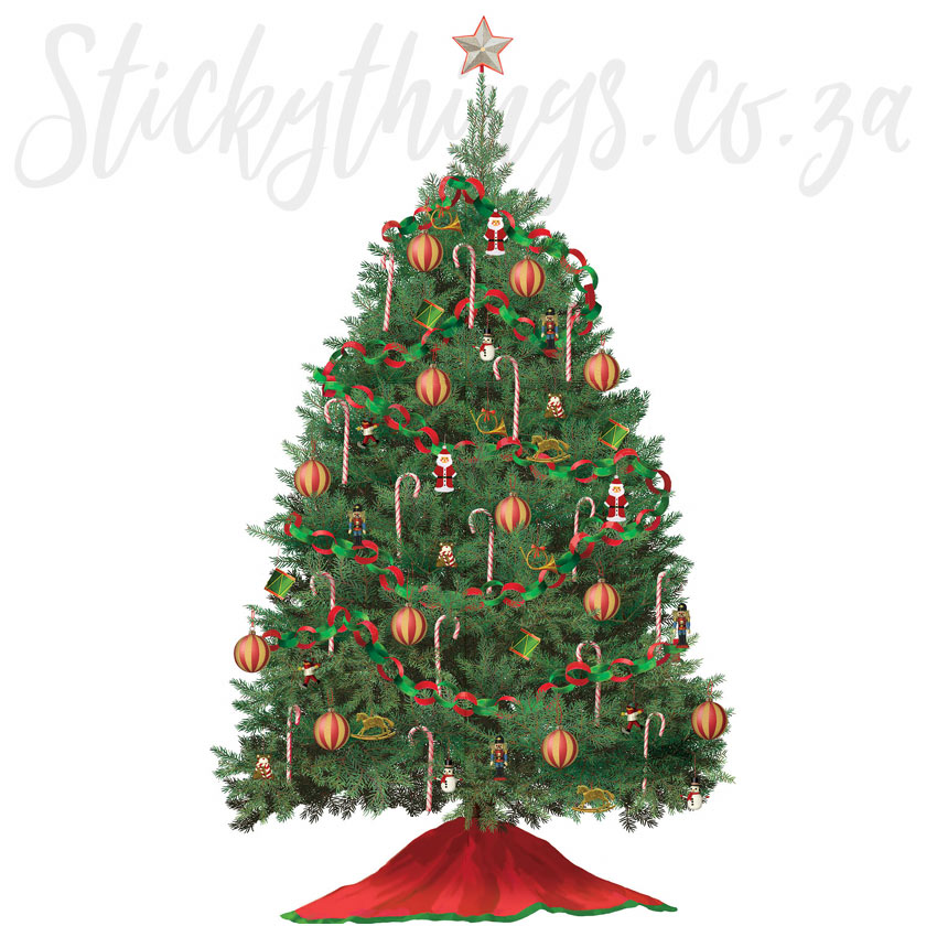 Traditional Christmas Tree Wall Sticker Build A