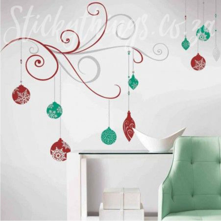 Christmas Scroll Wall Decal in a lounge