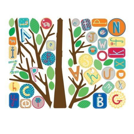 Primary ABC Tree Giant Wall Decal Sheets