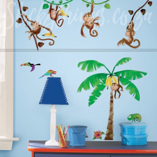 Boys room with the Monkey Wall Decals