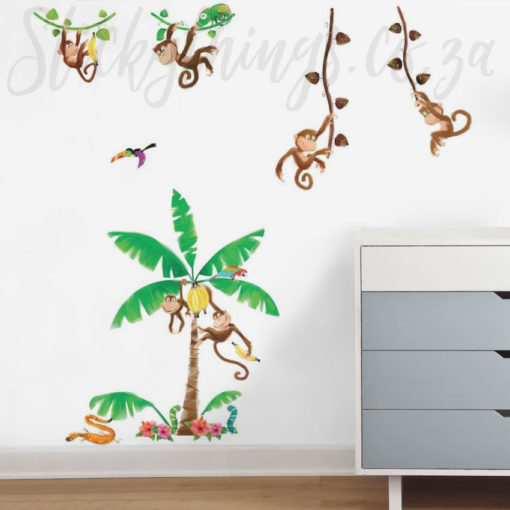 Monkey Wall Stickers in a Playroom