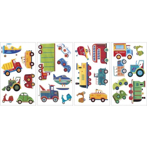 Sheets of the Transportation Wall Decals