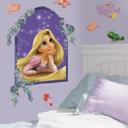 Rapunzel Tangled Giant Wall Decal in a bedroom