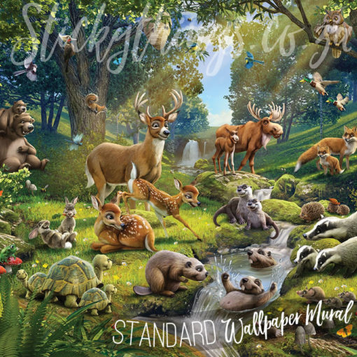 Showing the cute Forest Animals Mural