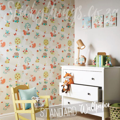 Nursery with Forest and Woodlands Wallpaper
