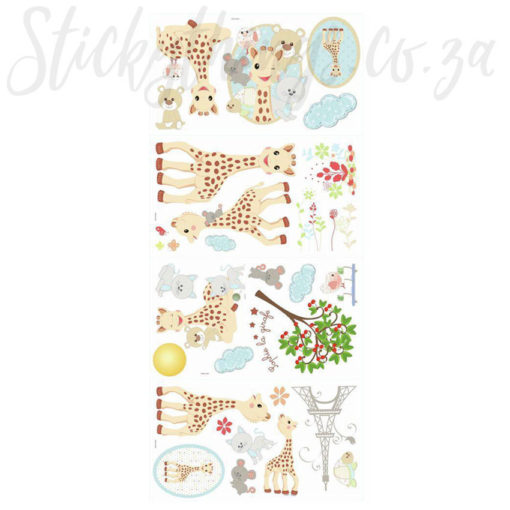 Sophie the Giraffe Decals on Sheets