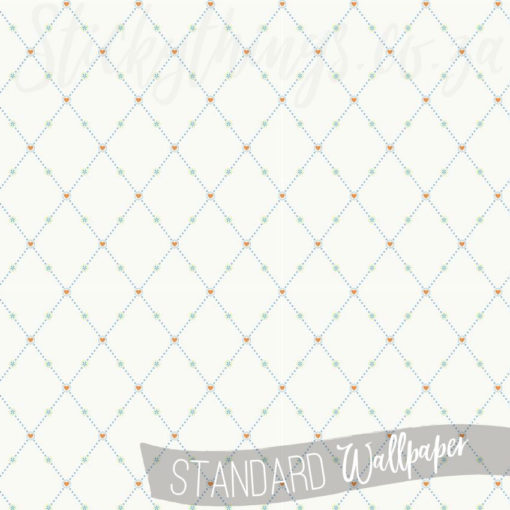 Pattern of the Hearts and Harlequins Wallpaper