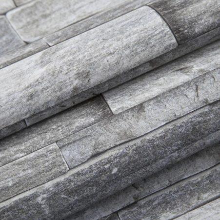 Detail in the Quartzite Grey Stone Wallpaper