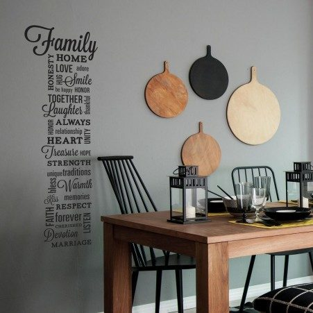 Family Quote Wall Art Sticker in a dining room
