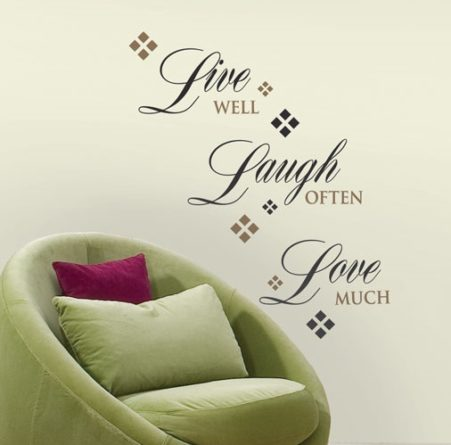 Live Laugh Love Decal in a Lounge