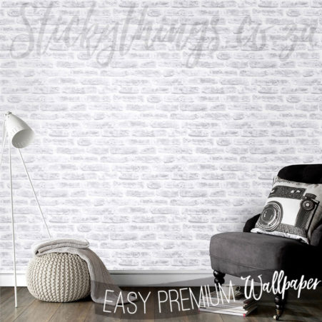 Rounded White Bricks Wallpaper in a lounge