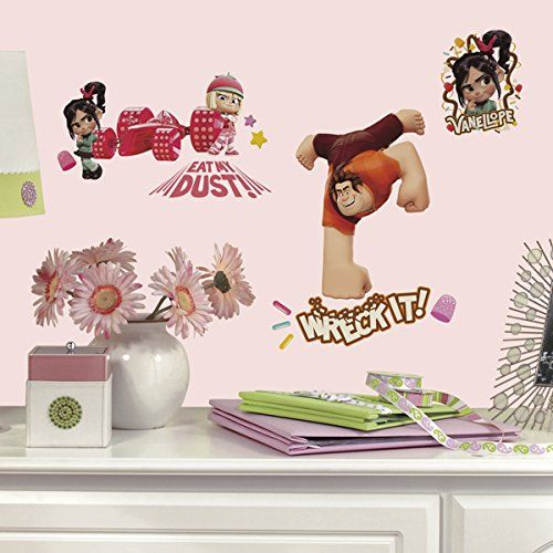 Disney Wreck it Ralph Wall Decals in a Girls Room