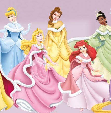 Close up of the Disney Princesses Decals