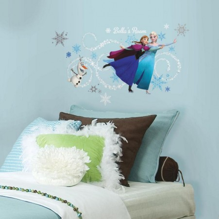 Frozen Ice Skating Wall Sticker in a Bedroom