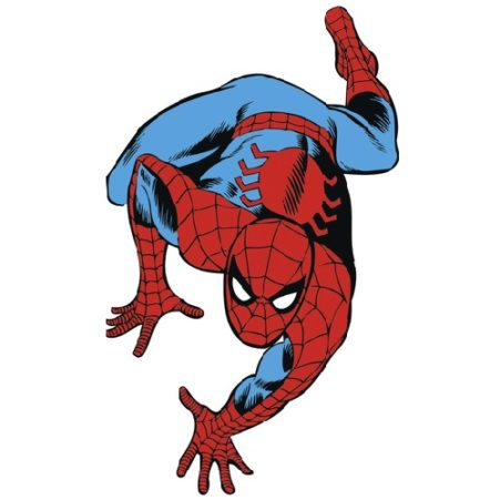 Close up of the Spider Man Classic Wall Sticker
