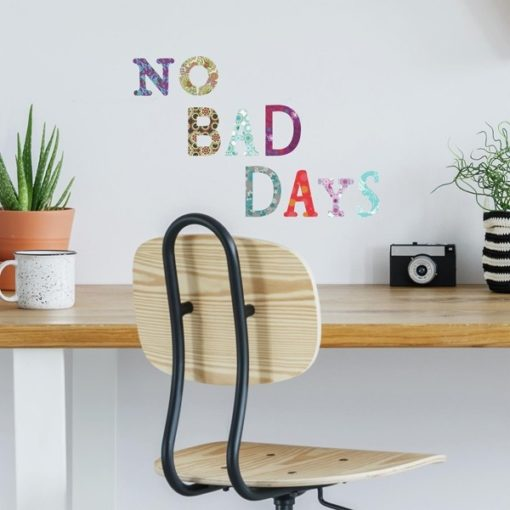 Boho Alphabet Letters Wall Stickers above a Desk