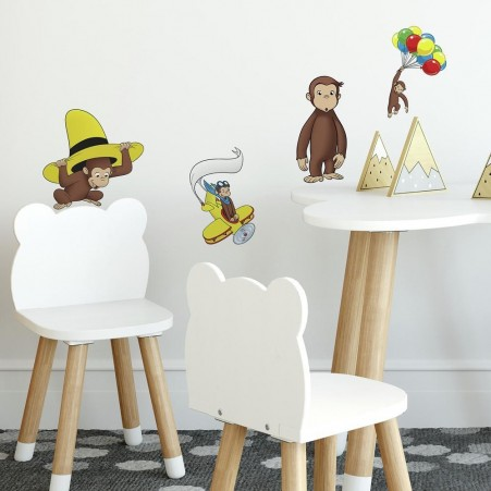 Curious George Wall Stickers in a Playroom