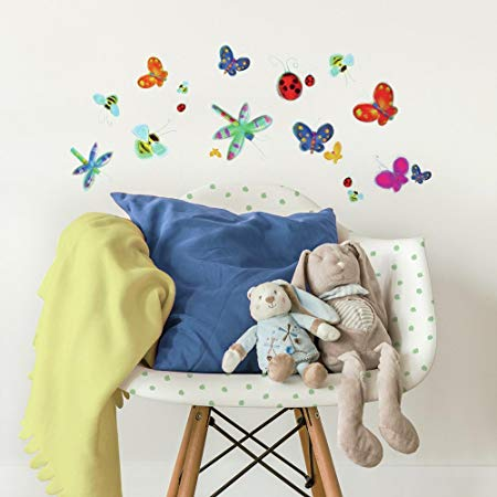 Jelly Bugs Wall Decals in a Bedroom